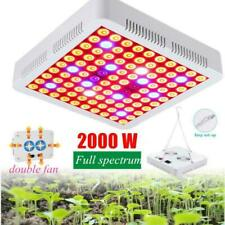 2000W LED Luz De Crecimiento Hidropónica espectro completo panel para interiores Veg Flor Planta Lámpara