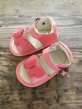 Janie and Jack BUTTERFLY GARDEN Size 3 Pink Leather Crib Shoes Sandals