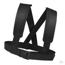 3pc Sled Harness Vest Speed Strength Training Strap Belt Webbing Hook D Ring
