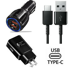 USB Car Charger Wall Adapter Type-C Cable Fast Charging for iPhone XS XR Samsung