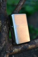 Zippo Lighter - Vintage Look - Brushed Chrome Without Slash - Model # 230 25