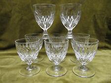 8 verres à vin de porto cristal taillé Navettes (porto wine glasses) Baccarat?