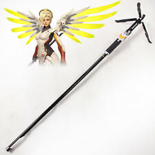 Overwatch OW Mercy Caduceus Staff Wand Weapon PVC Cosplay Prop
