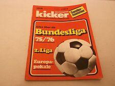 kicker Sportmagazin Sonderheft 1975/1976 Fußball-Bundesliga-Saison 75/76, selten