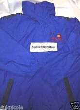 Legoland California Employee Mens Size MEDIUM Zip-Up Jacket Blue