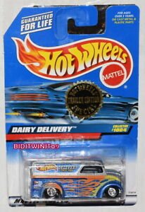 HOT WHEELS 1999 TRAILER EDITION DAIRY DELIVERY COLLECTOR #1004 BAD CARD