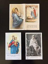 3 santini antichi Madonna con Bambino /holy cards / image pieuse / estampa