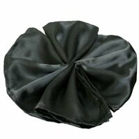 Package of 5 Satin Napkins - Black  ~Wedding Party Holiday Dinner Catering~
