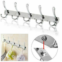 Set of 55 Hooks Coat Clothes Door Holder Rack Hook Wall Hanger Stainless Rack US