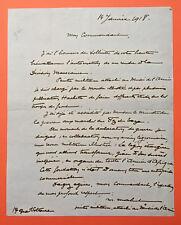 Maurice MAHUT - Lettre autographe signée