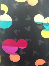 NWT LuLaRoe Disney Leggings OS One Size Mickey Minnie Mouse Stripe 201387