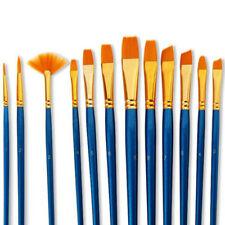 10/12X Watercolor Artist Paint Brush Set Nylon Hair Acrylic Oil Painting Supply