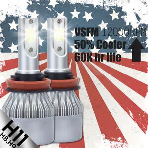 2X H11 COB LED Headlight Bulb High Power 388W Low Beam Light 6000K 38800LM Lamps