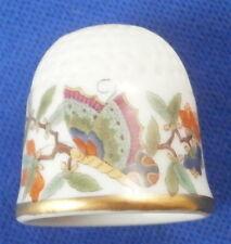 Rare Meissen Porcelain Chinese Butterfly Kakiemon Thimble Porzellan Fingerhut
