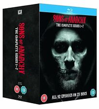 """SONS OF ANARCHY COMPLETE SERIES COLLECTION 1-7 BOX SET 23 DISCS BLU-RAY RB """"NEW"""""""