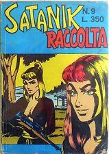 RACCOLTA SATANIK N.9 CON N.196-197-198 CORNO NOIR FUMETTO 1974 SUPPLEMENTO N.227