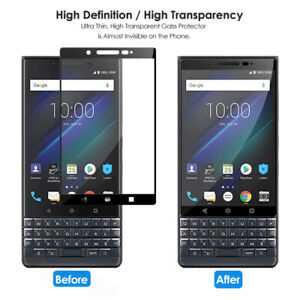 For BlackBerry Key2, 9H Tempered Glass 3D Full Coverage Screen Protector Guard