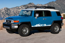 2X Multiple Color Stripe Mountains Car Vinyl Decal Sticker for Toyota FJ Cruiser