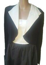 Max Mara Pianoforte chic B&W bolero/shrug/stole/shawl/wrap/jacket-IT46,UK14,US12