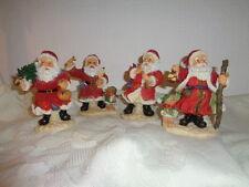 Nikolaus Weihnachtsmann Santa ca. 13 cm Keramik im Strickmantel Glocke   NEU