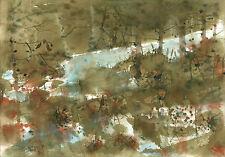 watercolor painting aquarelle original Picture(30x21)cm0176 PL