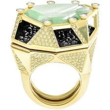 SWAROVSKI HUGE GOLD PLATED RING SIZE 50-52 BRAND NEW WITH TAGS