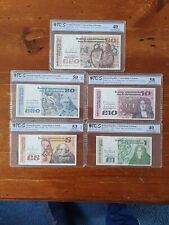 Irish Series B Banknotes PCGS Certified From 1 Pound To 50 Pounds 1979 - 1992