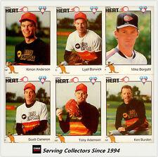 1989/90 Futera Australia Baseball Card Perth Heat Team Set (25) --Ultra Rare!