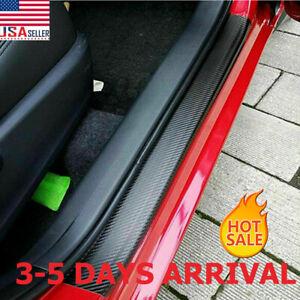 4&Accessories Carbon Fiber Car Scuff Plate Door Sill 5D Sticker Protector 2021