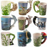 Novelty Animal Shaped Handle Ceramic Mug Tea Coffee Cup Gift Boxed