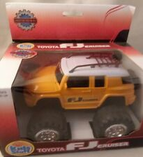 Kids Stuff TOYOTA FJ CRUISER Friction Powered YELLOW Toy Car New in Box NIB