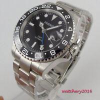 40mm parnis black dial Datum Saphirglas GMT Automatisch Movement Uhr men's Watch