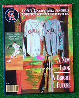 1993 California Angels MLB Baseball YEARBOOK Tribute to Nolan Ryan, Jimmy Reese