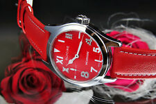 GLYCINE SWISS Incursore Ladies Men's Watch Red Diamond 3762.16ldp Hand Wound NEW
