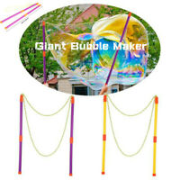 Giant Bubble Maker Stick Wand Fun Summer Garden Beach Outdoor Toys NEW