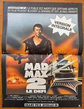 Affiche de cinéma : MAD MAX 2 de GEORGE MILLER