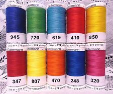10 NEW 274 yard spools bright colors GUTERMANN 100% polyester sew-all thread