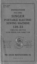 Manual for Singer Sewing Machine No. 128-23