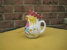 PITCHER CREAMER ROOSTER CHICKEN MADE IN ITALY MULTI COLOR