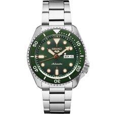 New Seiko 5 Automatic Green Dial Steel Bracelet Men's Watch SRPD63