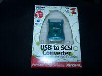 PortGear Xircom USB to SCSI Converter for Mac or PC - PN PGSCSI