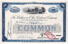 (I.B) US Share Certificate : Baltimore & Ohio Railroad Company $1000
