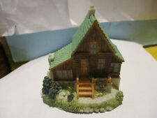 """(H-1) Liberty Falls Ah33*Trapper """"Big Mike'S"""" Cabin"""" Excellent With Box"""