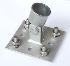 Streben-platte Strebe-Halter Streb-rohr für Einschlaghülse Bodenhülse 34mm Zaun
