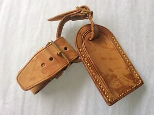 LOUIS VUITTON STRAP HOLDER and Address Tag for KEEPALL/BANDOULIERE Vachetta #A4