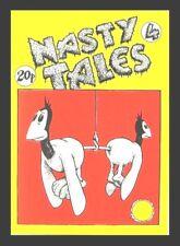 """NASTY TALES #4 1972 ROBERT CRUMB GILBERT SHELTON """"RARE""""BRITISH UNDERGROUND COMIX"""