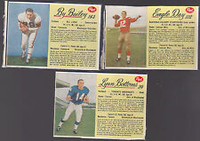 CHEAP!!! 1963 POST CFL #112 EAGLE DAY STAMPEDERS RARE WHITE SHORT PRINT!!