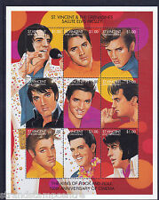 Elvis Presley 100th Anniv of Cinema Unmounted Mint Stamp Sheet from St Vincent