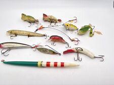 Lot of Vtg Plastic Fishing Lures Bobber Hula Popper Frog Jetterbug Rapala