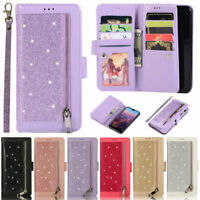 Glitter Wallet Leather Flip Cover Case For Huawei P30 Lite Mate 30 Lite P20 Lite